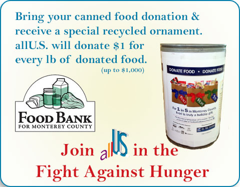 allU.S. Asks Members to Join them in the Fight Against Hunger and Support the Food Bank For Monterey County