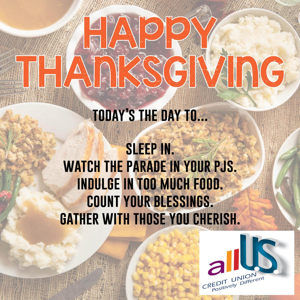 Happy Thanksgiving from allU.S. Credit Union